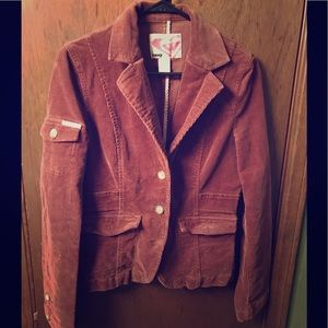 Roxy Corduroy Brown Jacket Sz M